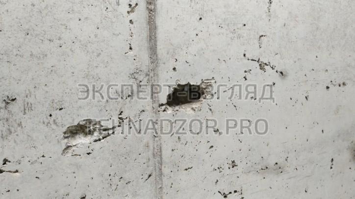 пустоты в бетоне