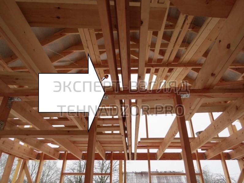 Недопустимо передавать нагрузки от перекрытий и крыши на каркас перегородок. Отсутствие колонн передающих нагрузку