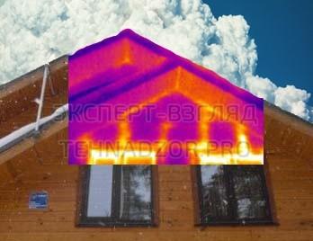 Проверка дома тепловизором при проверке дома перед покупкой